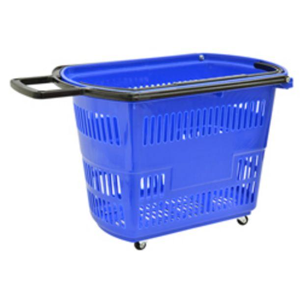 Oferta de Cesto Plástico Azul con Garrucha por 20,83€