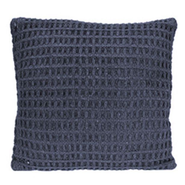 Oferta de Cojín Weave Algodón Azul 45x45cm por 26,8€