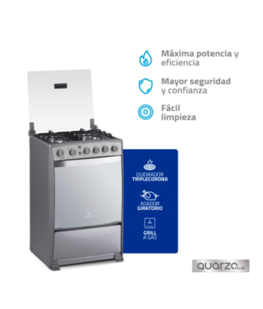 Oferta de Cocina Indurama Florencia Quarzo Plus 4Q por 509,77€