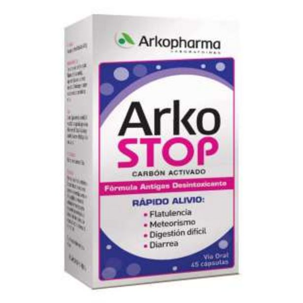 Oferta de Arkostop Cap Carbon Activado Frasco con 45 Unidades por 14,18€