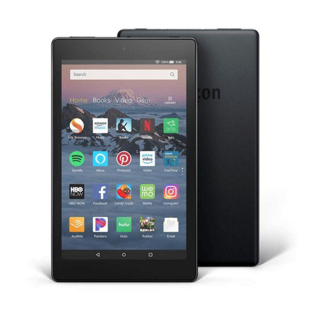 Oferta de Tablet Amazon Fire HD8 Negro por 157,02€