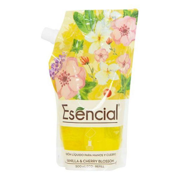 Oferta de Jabón Líquido Esencial para Manos y Cuerpo Vanilla & Cherry Blossom por 3,9€