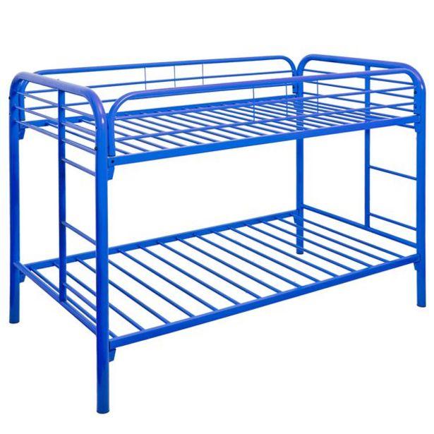 Oferta de Litera Metálica Azul de 1.5 Plazas por 259,06€