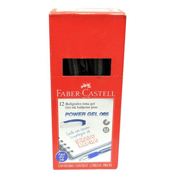 Oferta de Plumas Faber Castell Power Gel 065 Negro 12 Unidades por 19,45€