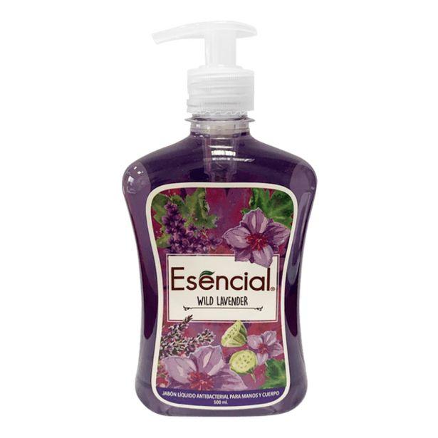 Oferta de Jabón Líquido Antibacterial Esencial para Cuerpo Wild Lavender por 4,89€