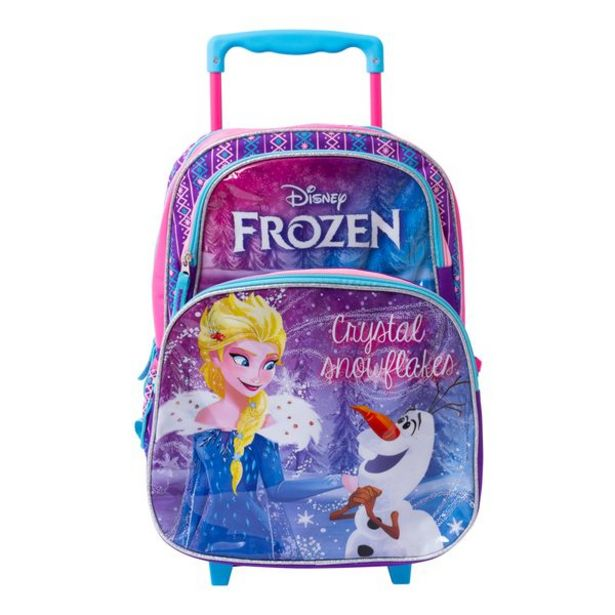 Oferta de Mochila con Ruedas Kids Frozen Morado por 15,99€