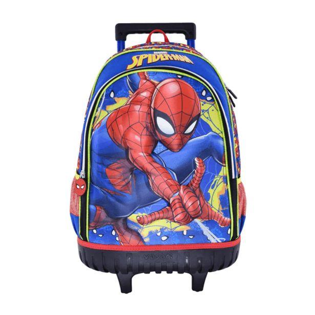 Oferta de Mochila con Ruedas Kids Spiderman Azul por 45,99€