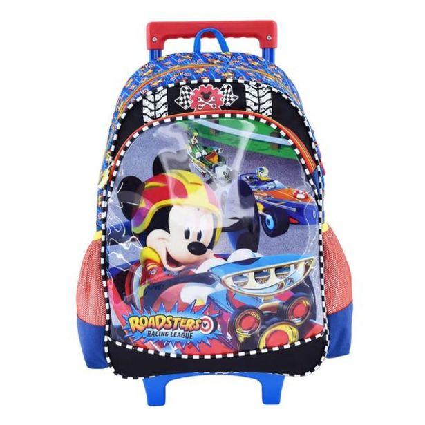 Oferta de Mochila con Ruedas Kids Escolar Mickey Negro por 49,99€