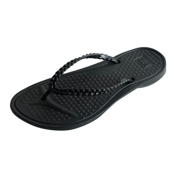 Oferta de Zapatillas Bora Flex Trenzas Negro por 2,99€
