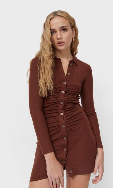 Oferta de Vestido polo fruncido por 32,99€