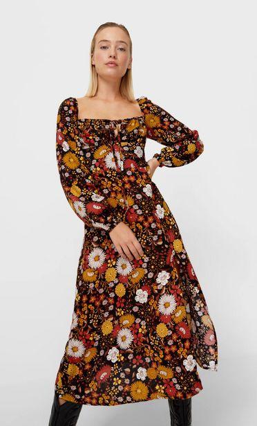 Oferta de Vestido midi flores por 45,99€