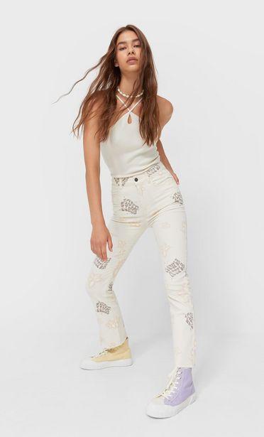 Oferta de Jeans flare flor por 45,99€